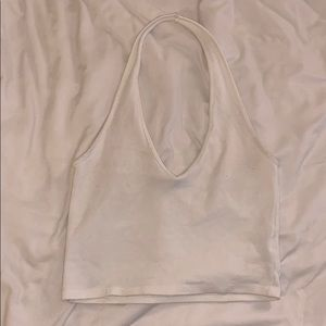 Brandy Melville white halter crop top